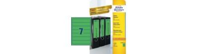 Etiquette dos de classeur, vert, 192,0 x 38,0 mm, Adhésif permanent