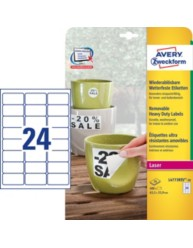 Removable, weatherproof labels, 33.9 x 63.5 mm | L4773REV-20 | Avery Zweckform