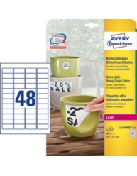 Removable, weatherproof labels, 45.7 x 21.2 mm | L4778REV-20 | Avery Zweckform