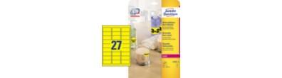 Promotion etiketter, neon gule, 63,5 x 29,6 mm