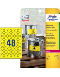 L6128-20 Yellow heavy duty laser labels