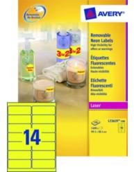 Etiquettes fluorescentes 99 1 x 38 1 mm l7263y 100 avery for Logiciel merchandising gratuit