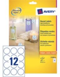 Etichette rotonde per prezzi, 12 etichette per fogli