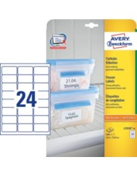 Freezer labels, 63.5 x 33.9 mm | L7970-25 | Avery Zweckform