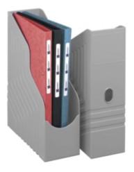 Porte-revues dos de 100 mm - Gris