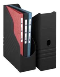 Porte-revues dos de 100 mm - Noir