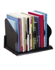 Support livres noir- 5 compart. modulables