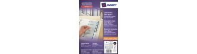 Divisori Index Maker, 6 tasti personalizzabili con etichette trasparenti, A4