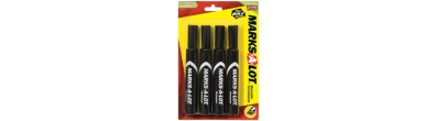 MARKS-A-LOT, Marcador Permanente 07903 , Standard, Cincel, Negro, 4PK