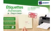 Etiquette adresse, transparent, 38,1 x 63,5 mm
