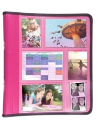 Pink Picture View Touring Binder and Organiser
