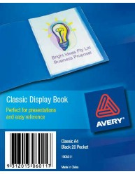 Black Classic Display Book