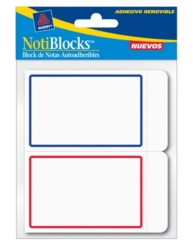 Avery Removable Label Pad 22018 Packaging Image