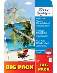Carta fotografica Superior per stampanti Inkjet,ultra lucida, A4, 230g, Big Pack