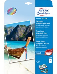 Carta fotografica Superior per stampanti Inkjet,ultra lucida, AA, 200g