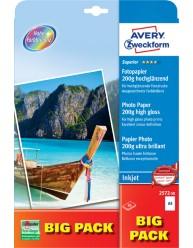 Carta fotografica Superior per stampanti Inkjet- ultra lucida,, A4, 200g, Big Pack