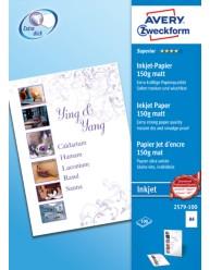 Carta fotografica Superior per stampanti Inkjet , opaca, A4, 150g