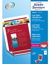 Carta fotografica Superior per stampanti Laser a colori , lucida, A4, 150g