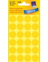 Manuelle etiketter, gul