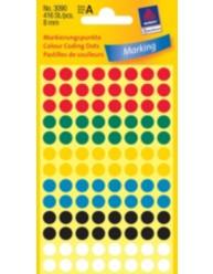 Manuelle etiketter, assorteret farver