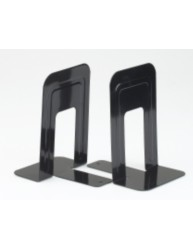 Large Metal Bookends Black