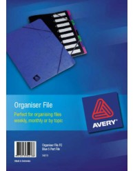 Blue Manilla Organiser File