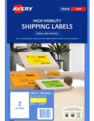 Fluoro Yellow shipping Labels