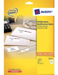 Multipurpose Labels, white, 70 x 42.3 mm