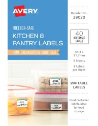 Rectangle Removable Freezer Labels 39020