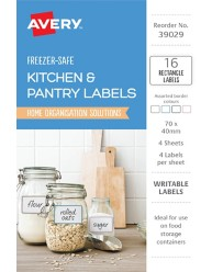 Kitchen & Pantry, Assorted Colour Home Organisation Labels