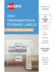 Organisation & Storage, Assorted Colour Home Organisation Labels