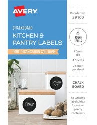 Kitchen & Pantry, Chalkboard Home Organisation Labels