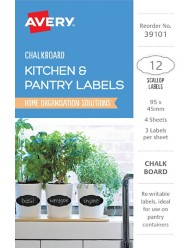 Kitchen & Pantry, Chalkboard Home Organisation Labels