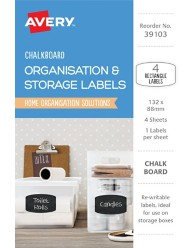 Organisation & Storage, Chalkboard Home Organisation Labels