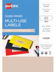 Pastel Coloured Labels