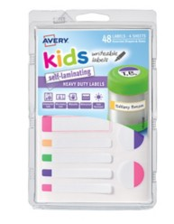 41434 - Self-Laminating Kids Labels