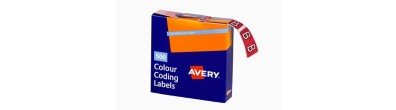 Alphabetical 'B' Side Tab Colour Coding Labels, 25 x 38 mm, 500/Box