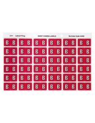 43302 Alphabetical 'B' Side Tab Colour Coding Labels