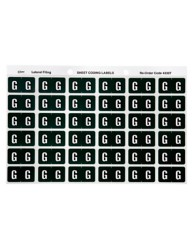 43307 Alphabetical 'G' Side Tab Colour Coding Labels