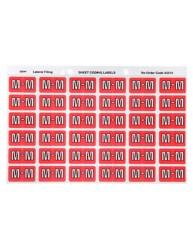 Alphabetical 'M' Side Tab Colour Coding Labels
