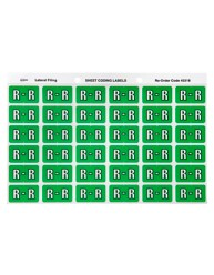 43318 Alphabetical 'R' Side Tab Colour Coding Labels