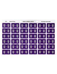 Alphabetical 'U' Side Tab Colour Coding Labels