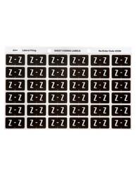 Alphabetical 'Z' Side Tab Colour Coding Labels