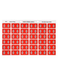 43340 Numeric '0' Side Tab Colour Coding Labels, 25 x 38 mm, 180/Pack