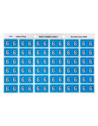 Numeric '6' Side Tab Colour Coding Labels