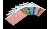 Month 'Aug' Coding Labels, 23 x 38 mm, 180/Pack