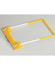 Yellow Tubeclip File Fastener with Base
