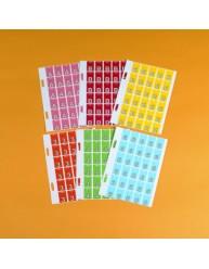Top Tab Colour Code Labels '0'