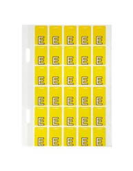 44405 Top Tab Colour Code Labels 'E'