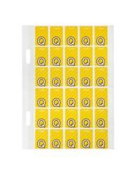 Top Tab Colour Code Labels 'Q'